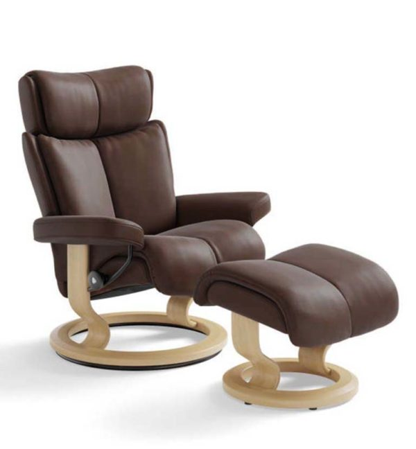Stressless Magic recliner paloma chocolate