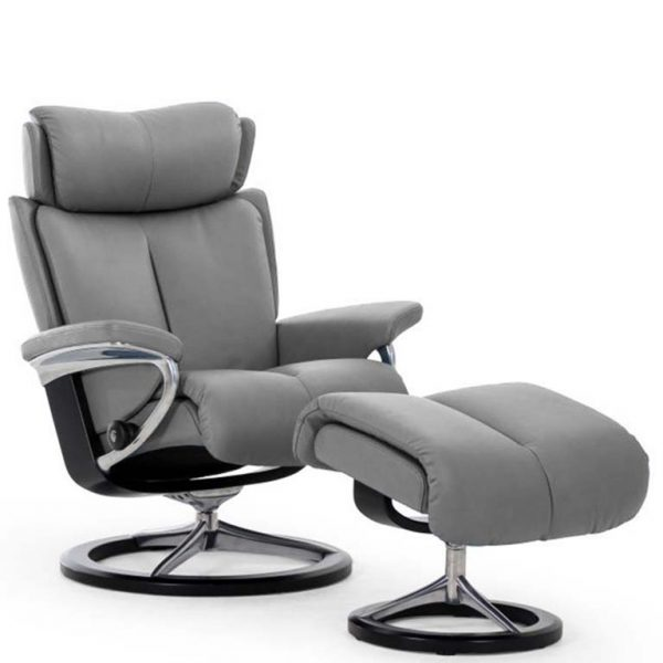 Magic recliner metal grey