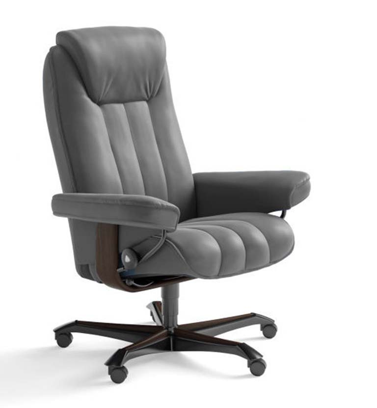 Bliss office chair paloma metal grey