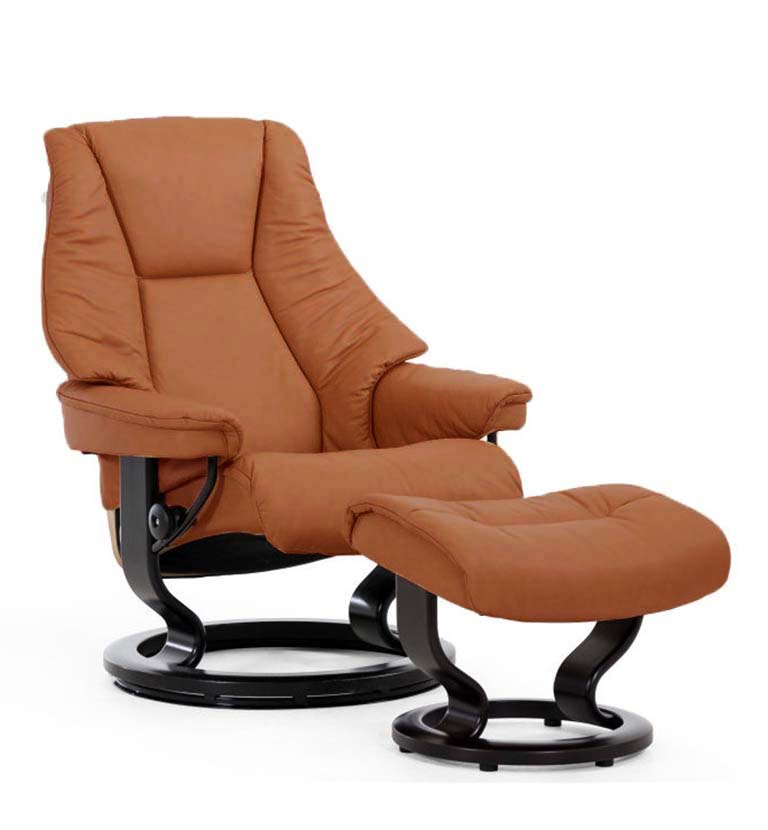 Live recliner, classic base, paloma copper