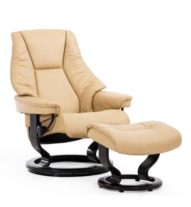 Live recliner, classic base, paloma vanilla