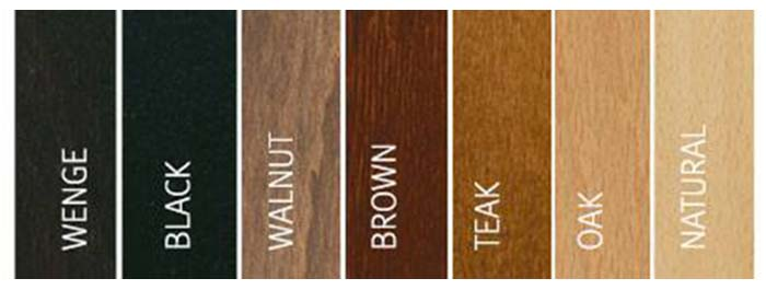 Wood accents: wenge, black, teak, brown, walnut, oak, natural.