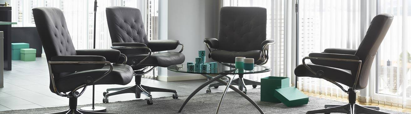 Metro low-back office chairs