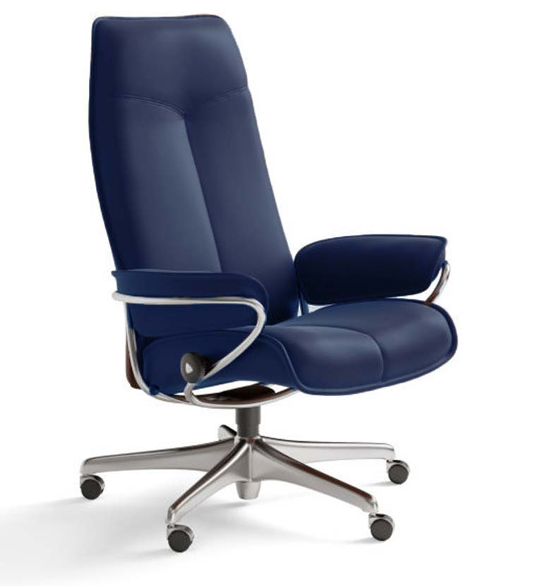 City office chair indigo