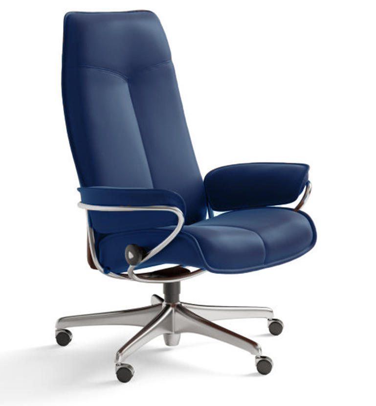 City office chair oxford blue
