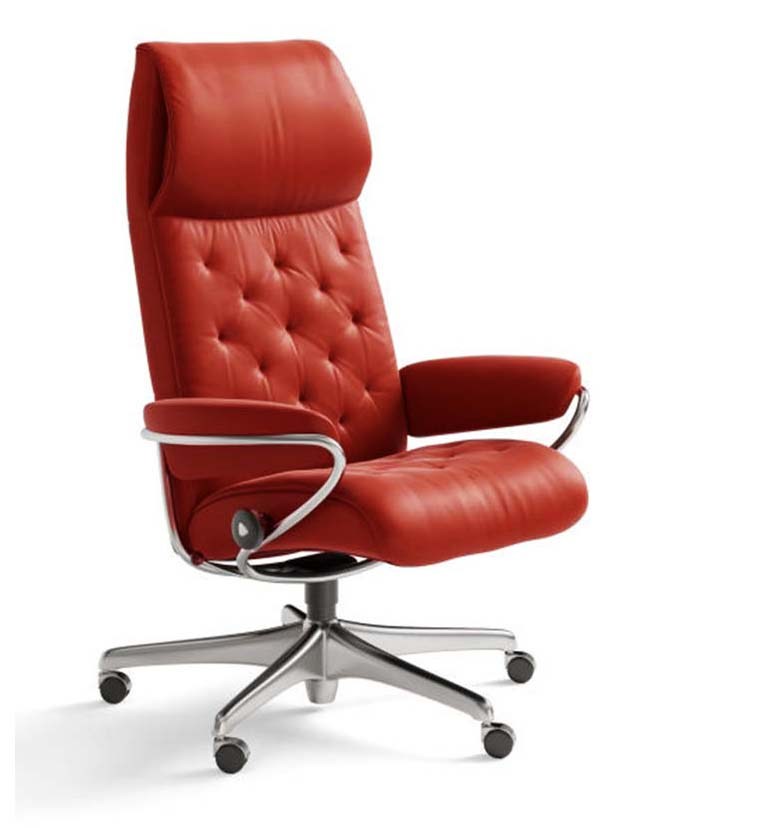 Metro high back office chair tomato
