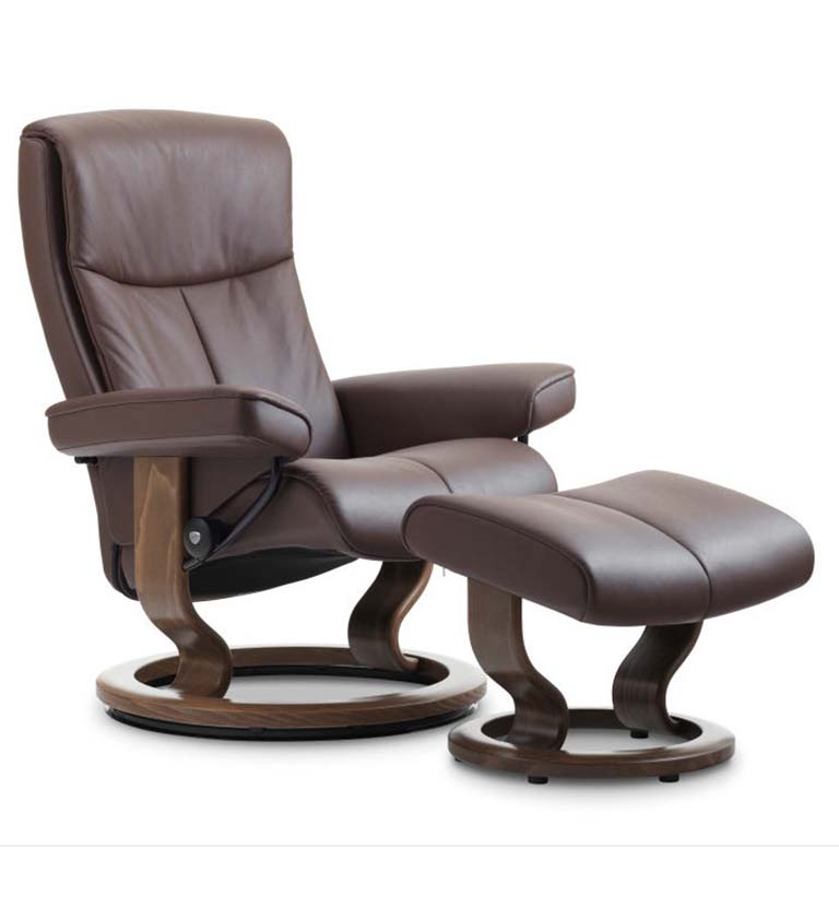 Peace recliner classic base chocolate