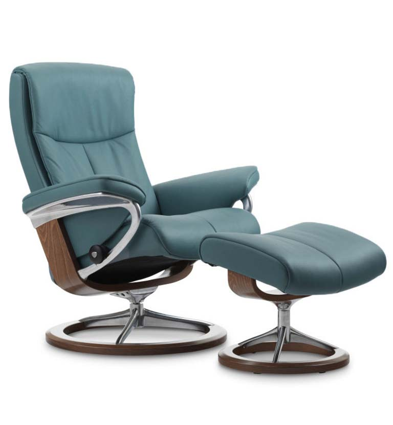 Peace recliner signature base aqua green
