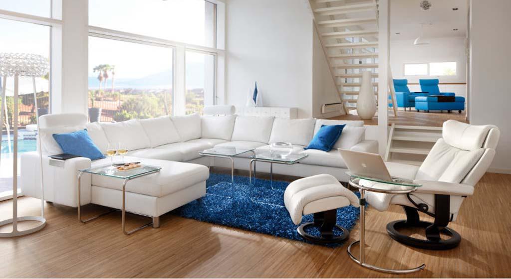 E200 sofa Batick snow Magic recliner