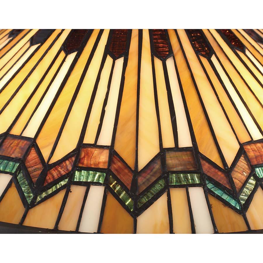 Alcott Quoizel Tiffany table lamp cut glass detail