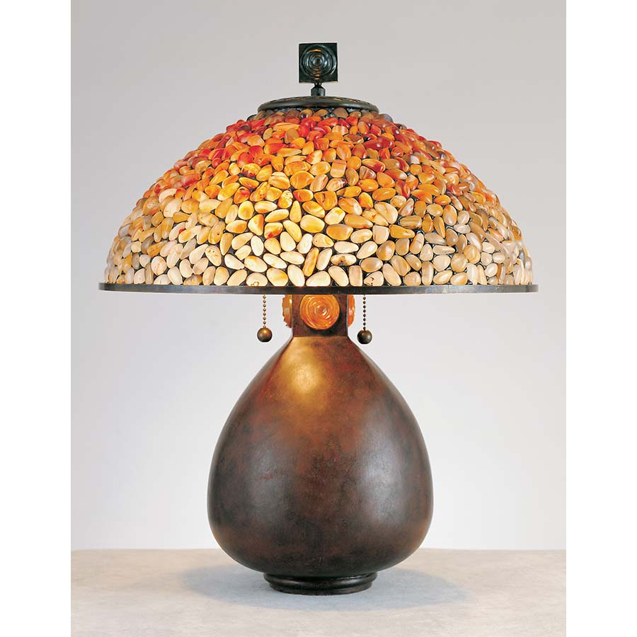 Quoizel Pomez stone glass lamp