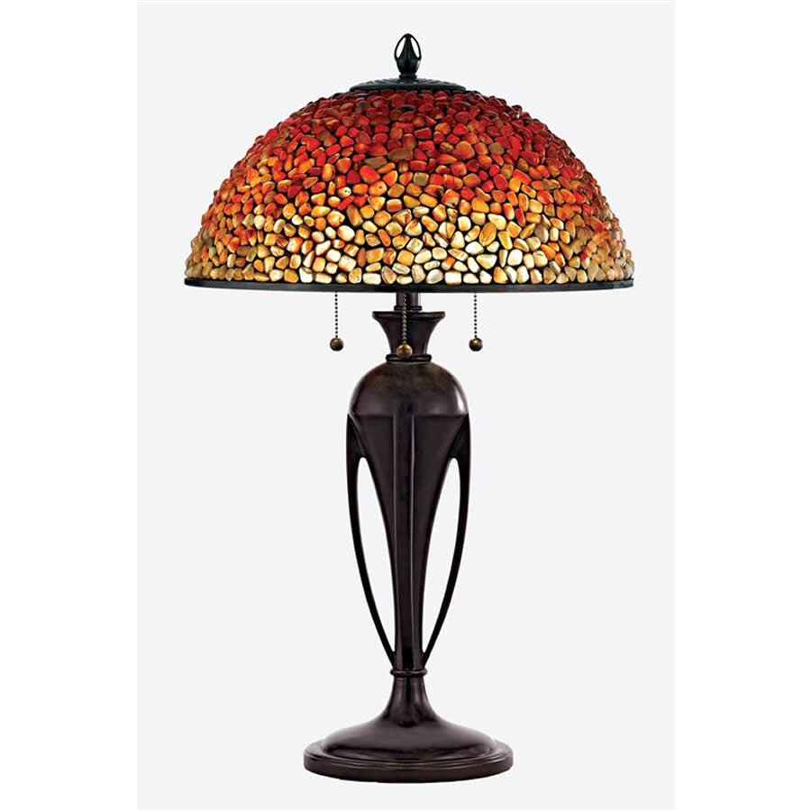 Pomez glass stone lamp