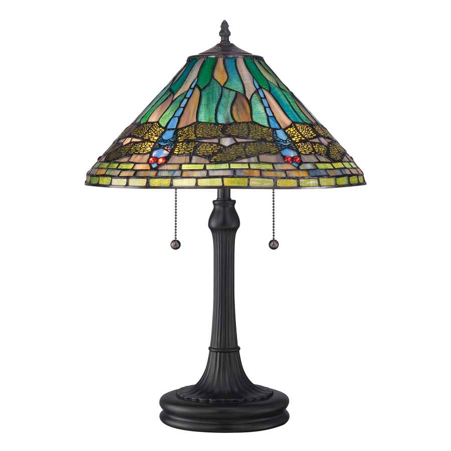 Tiffany Dragon Fly lamp slender base