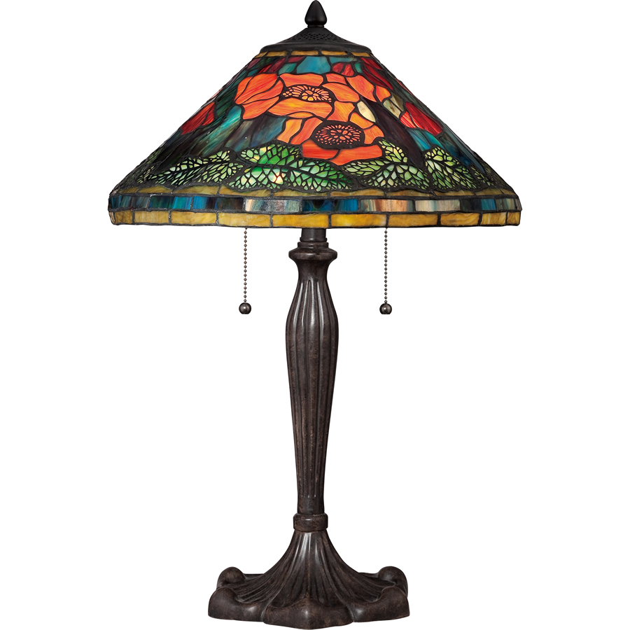 Tiffany Poppy Flower lamp