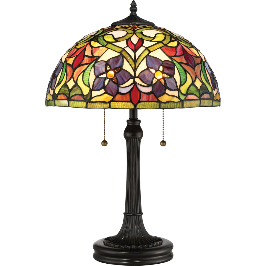 Violets Tiffany lamp
