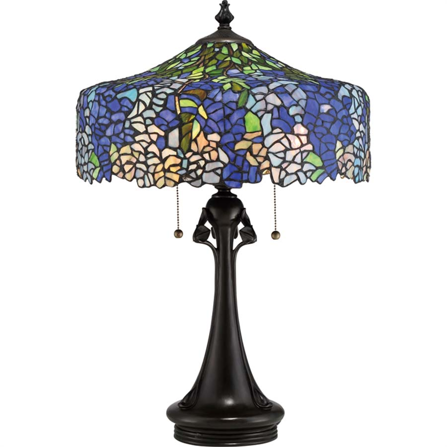 Cobalt blue wisteria tiffany lamp home furnishers arubaitofo Gallery