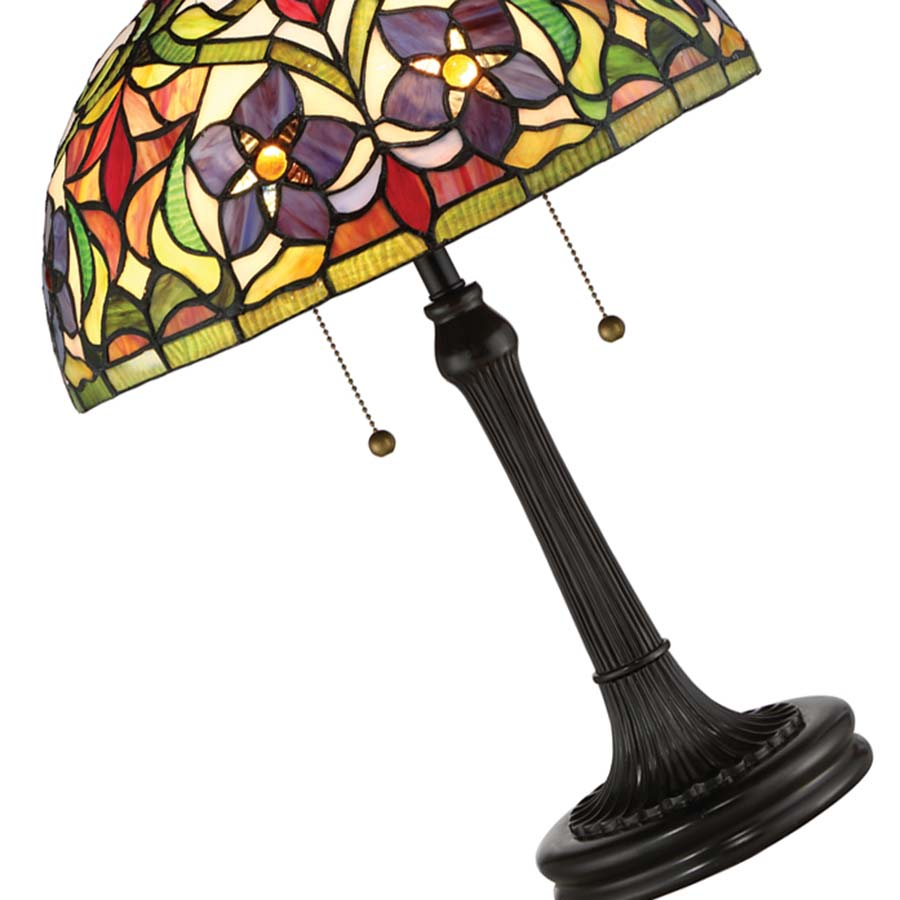 Violets Tiffany Quoizel lamp