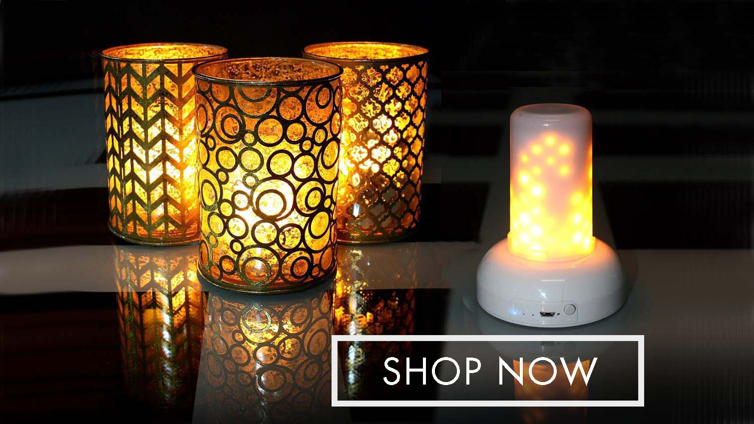 Flame Wave candles by Light Garden