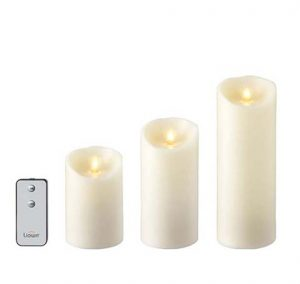 rz flameless candles set three 37093
