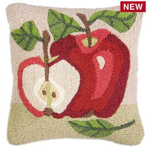 Two apples throw pillow
