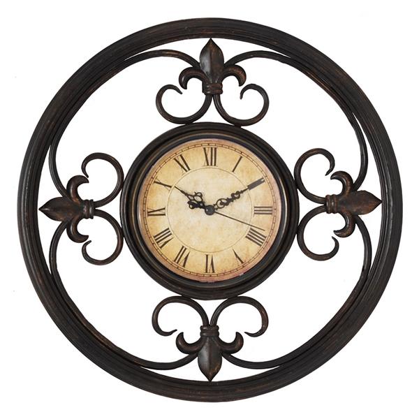 fleur-de-lis wall clock propac