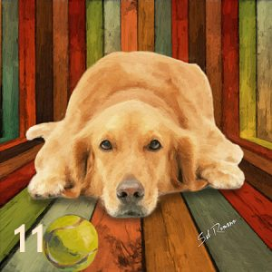 Golden Retriever Tennis Ball