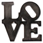 Love metal wall art propac