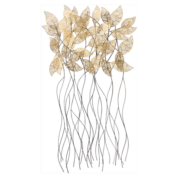 Sculptured leaves wall art propac