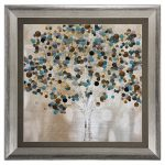 teal tree propac canvas art