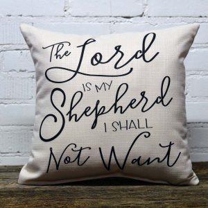 lord is my shepherd little birdie pillow