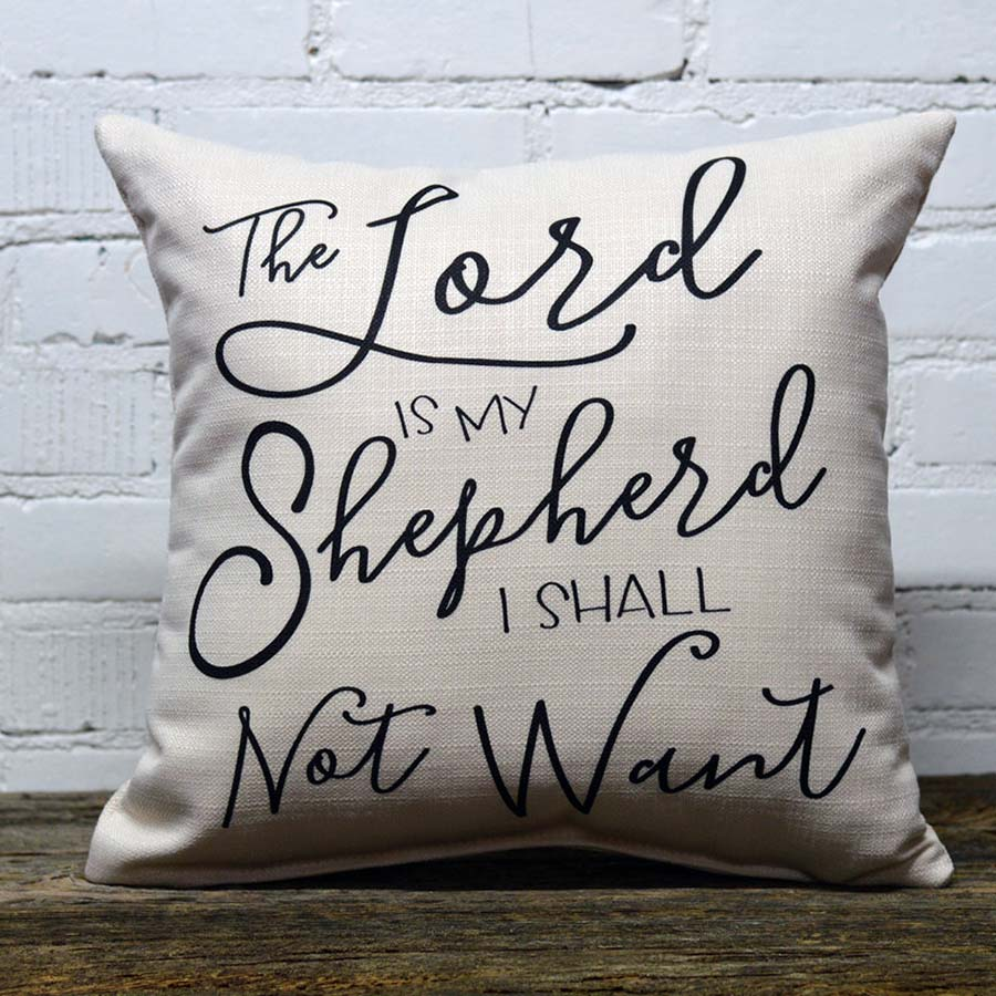 lord is my shepherd little birdie pillow