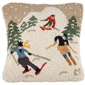 Schuss downhill throw pillow
