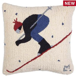 whiteout skier chandler 4 corners throw pillow