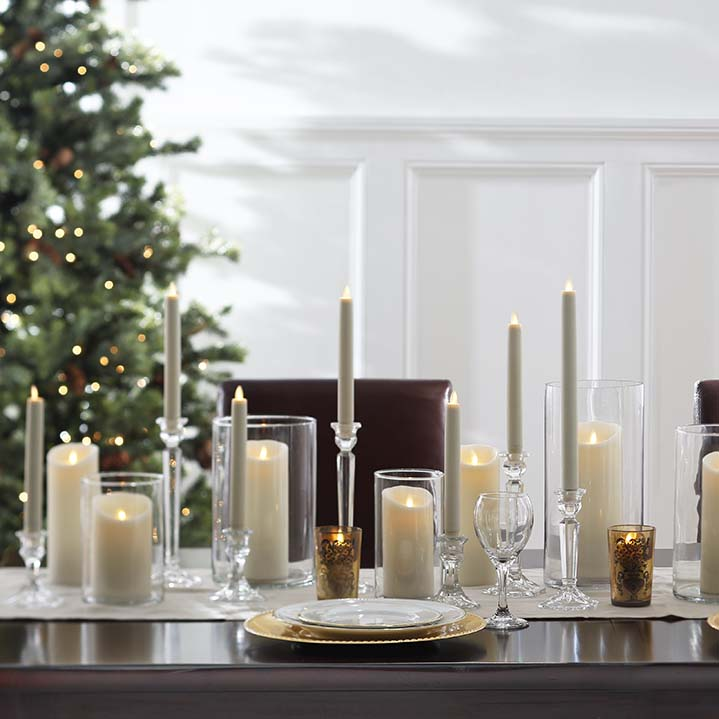 moving flame taper candles