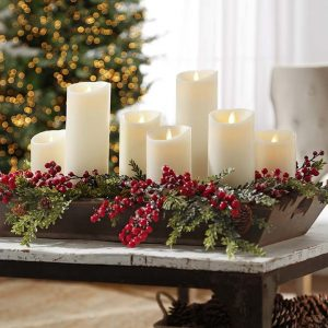 moving flame candles holiday display