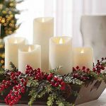 moving flame pillar candles room scene