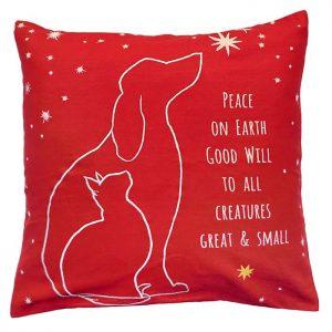 peace on earth michaelian holiday pillow
