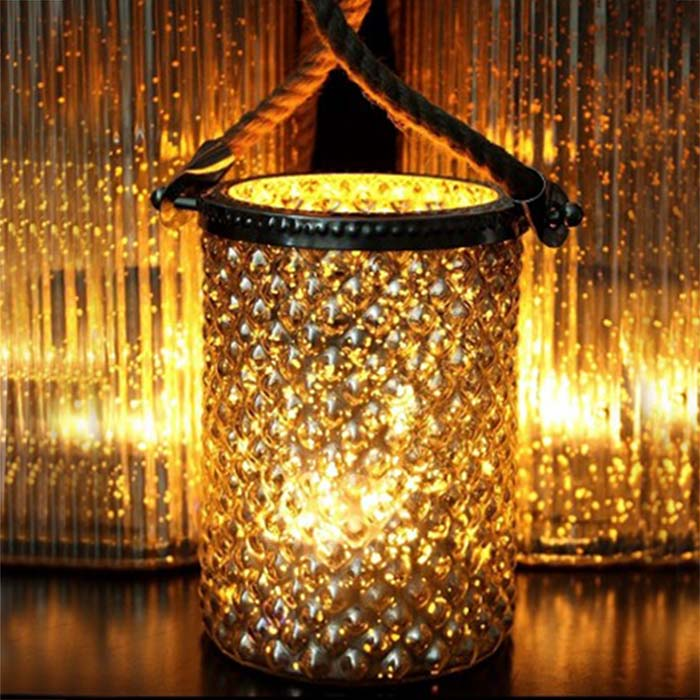 hurricane lamp 5 by 7 with rope