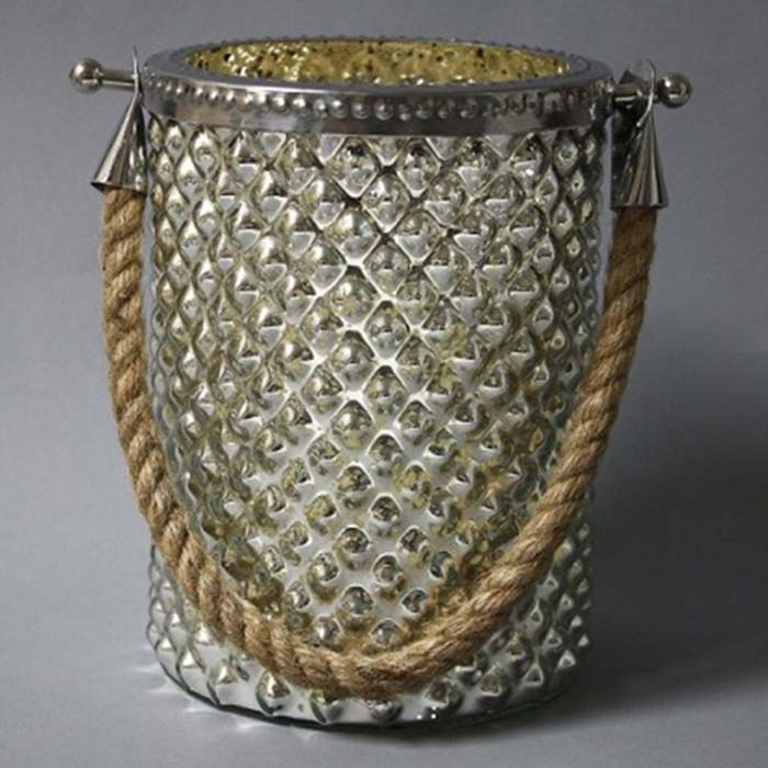 hurricane lamp 5 by 7 with rope light garden