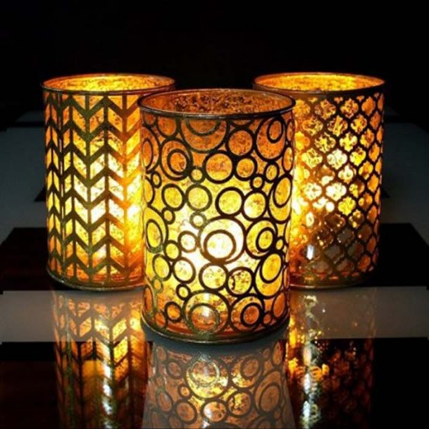 Flame Wave Glowing Candles