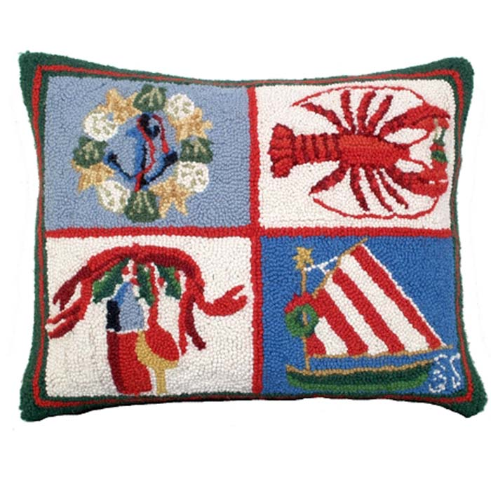 nautical christmas michaelian home holiday pillows