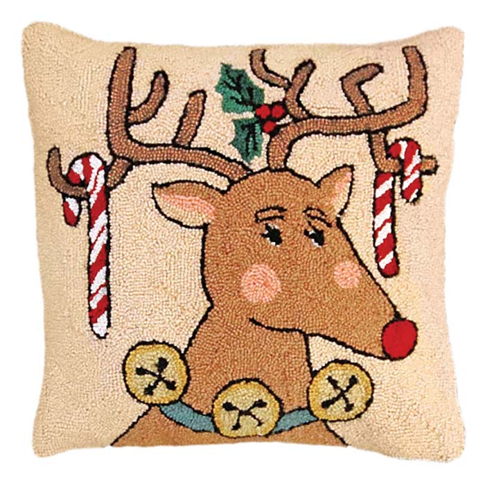 reindeer candy cane michaelian home pillow
