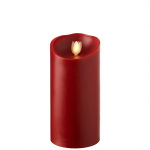 raz moving flame red candle 7 inch