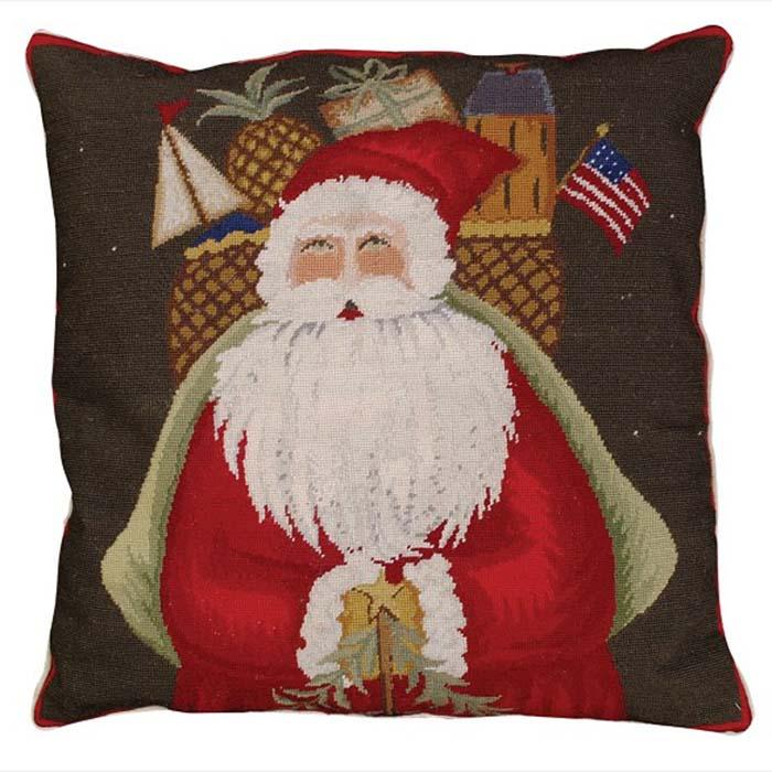 santa gifts michaelian holiday pillow