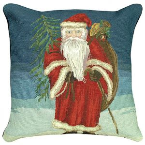 santa tree michaelian holiday pillow