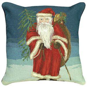 santa tree michaelian holiday pillow