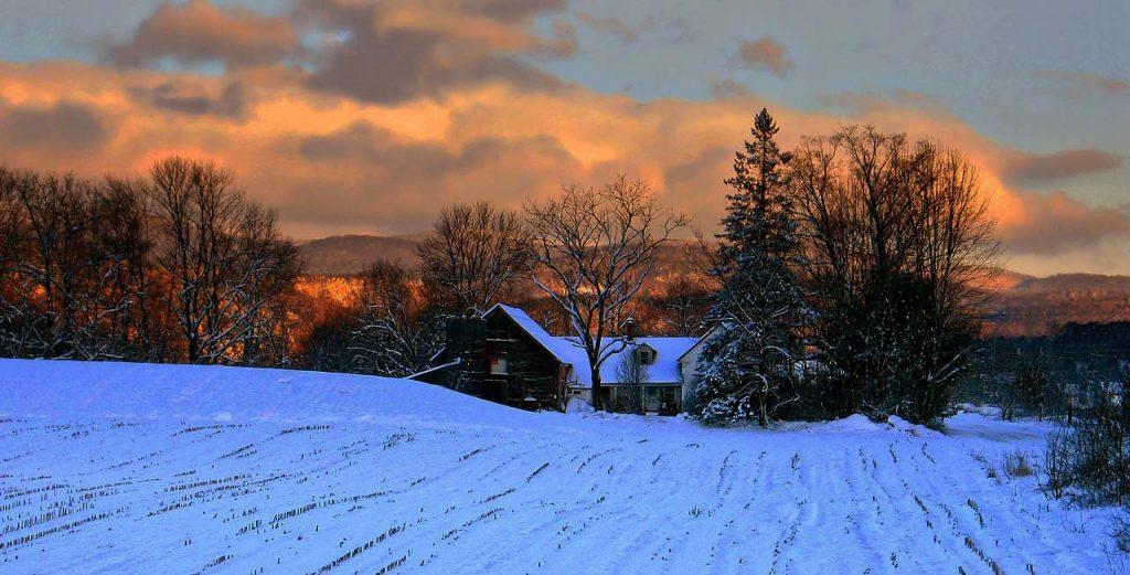 Vermont farm winter