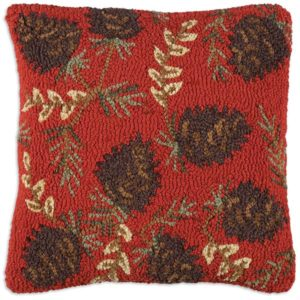 ruby pinecones chandler 4 corners throw pillow