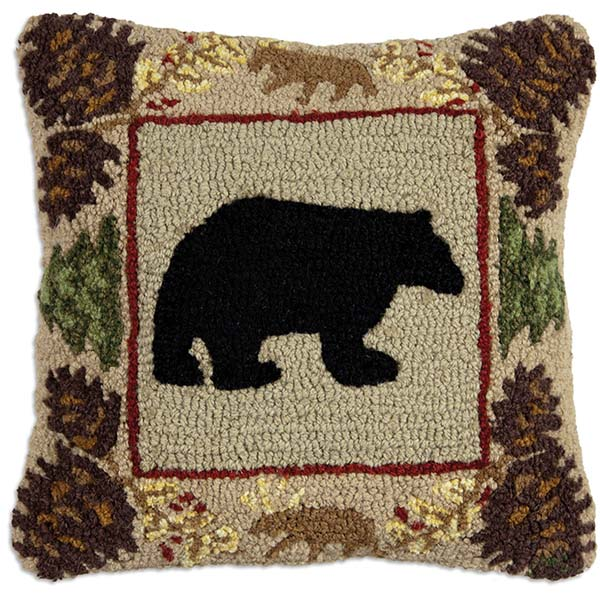 north woods bear chandler 4 corners throw pillow