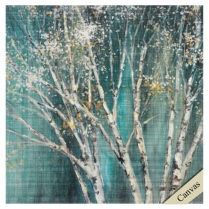 blue birch trees propac images canvas
